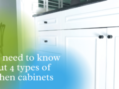 You need to know about 4 types of kitchen cabinets