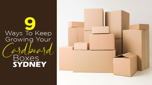 9 Ways To Keep Growing Your Cardboard Boxes Sydney